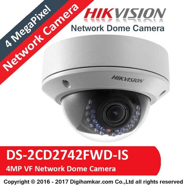 دوربين مداربسته تحت شبکه دام هايک ويژن وری فوکال مدل DS-2CD2742FWD-IS