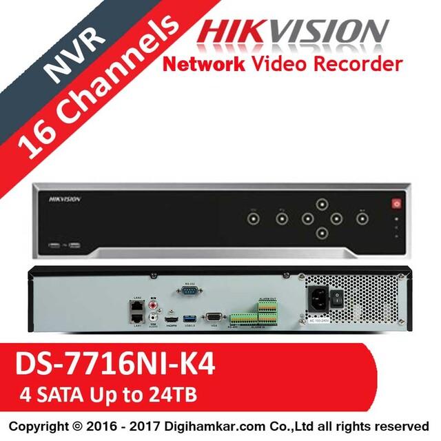 ضبط کننده ویدیویی تحت شبکه NVR هایک ویژن مدل DS-7716NI-K4