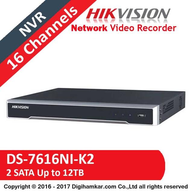ضبط کننده ویدیویی تحت شبکه NVR هایک ویژن مدل DS-7616NI-K2