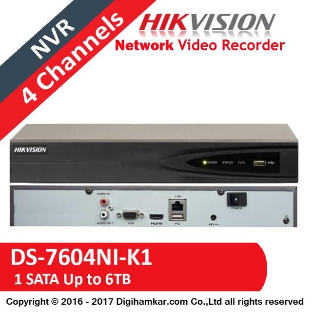 ضبط کننده ویدیویی تحت شبکه NVR هایک ویژن مدل DS-7604NI-K1
