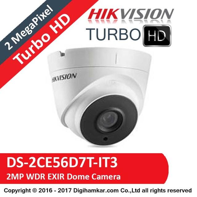 دوربين مداربسته TurboHD دام هايک ويژن مدل DS-2CE56D7T-IT3