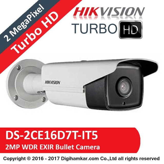 دوربين مداربسته TurboHD بولت هايک ويژن مدل DS-2CE16D7T-IT5