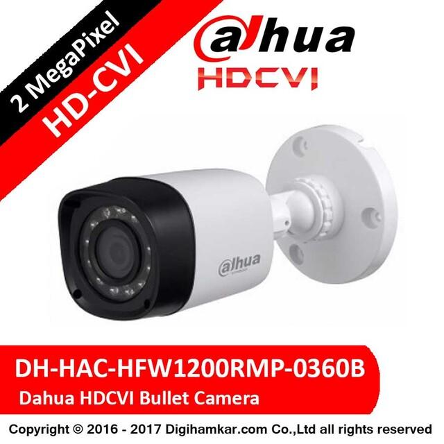 دوربین مداربسته بولت داهوا HD-CVI مدل DH-HAC-HFW1200RMP-0360B