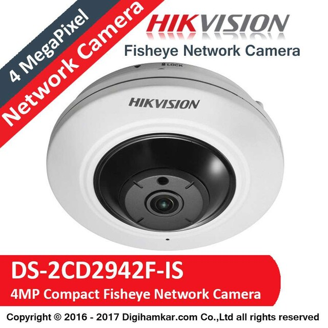 دوربين مداربسته تحت شبکه چشم ماهی هايک ويژن مدل DS-2CD2942F-IS