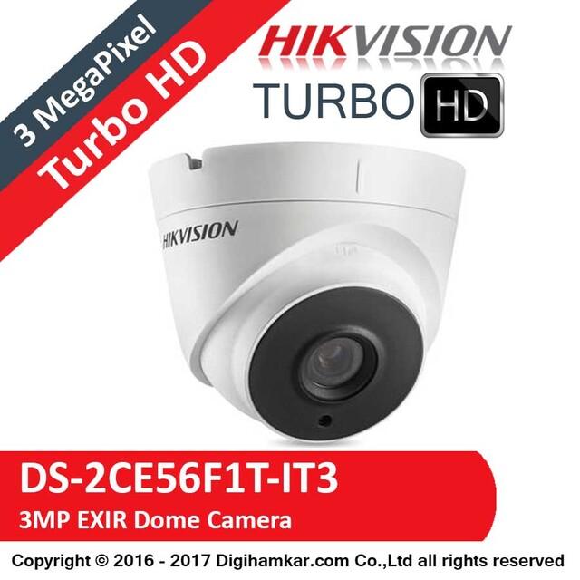دوربین مداربسته TurboHD دام هایک ویژن مدل DS-2CE56F1T-IT3