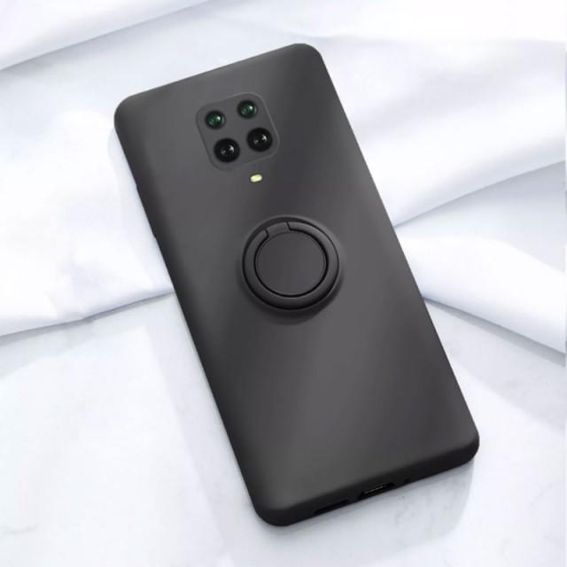 قاب سیلیکونی رینگ دار با بند شیائومی Redmi Note 9s/Note 9 Pro
