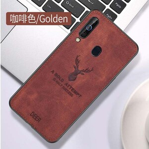 Cloth Texture Deer Case For Samsung Galaxy A20s (3)