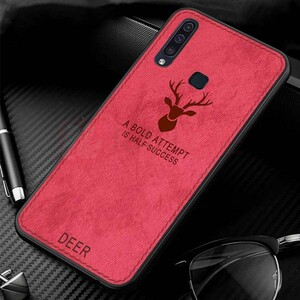 Cloth Texture Deer Case For Samsung Galaxy A20s (4)