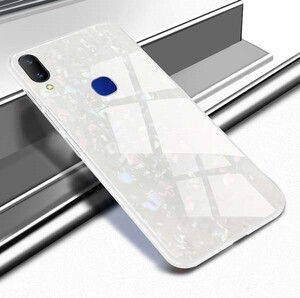 Fashion Marble Glass Case For Huawei Y7 2019 (5)