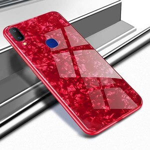 Fashion Marble Glass Case For Huawei Y7 2019 (1)