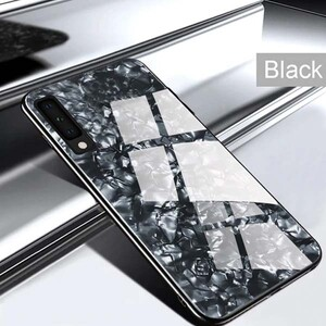 Fashion Marble Glass Case For Samsung Galaxy A20s (4)