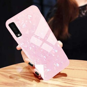 Fashion Marble Glass Case For Samsung Galaxy A20s (2)