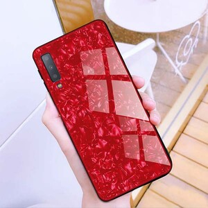 Fashion Marble Glass Case For Samsung Galaxy A20s (1)