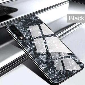 Fashion Marble Glass Case For Samsung Galaxy A7 2018 (4)