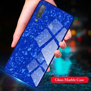 Fashion Marble Glass Case For Samsung Galaxy A7 2018 (5)