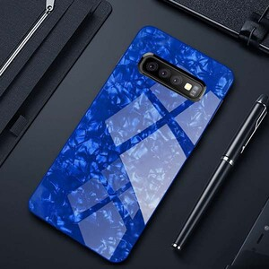 Fashion Marble Glass Case For Samsung Galaxy S10 Plus (2)