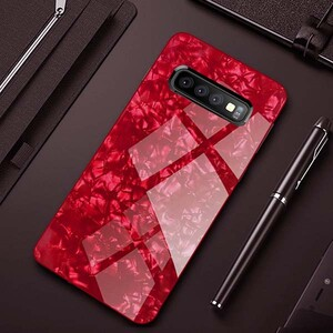 Fashion Marble Glass Case For Samsung Galaxy S10 (1)