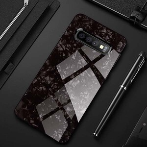 Fashion Marble Glass Case For Samsung Galaxy S10 (3)