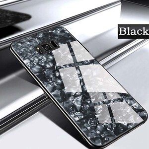 Fashion Marble Glass Case For Samsung Galaxy S8 (4)