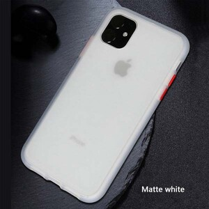 basuse Matte Clear Edge Cover For Apple iPhone 11 (2)