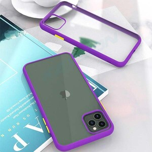 basuse Matte Clear Edge Cover For Apple iPhone 11 (5)