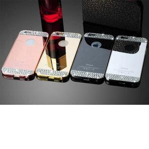 قاب آینهای نگیندار دور فلزی مناسب برای گوشی آیفون 7 پلاس