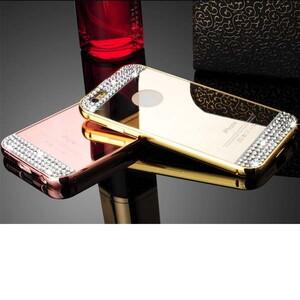 قاب آینهای نگیندار دور فلزی مناسب برای گوشی آیفون ۶/۶s پلاس