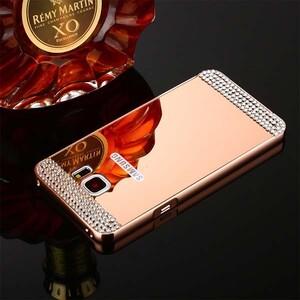 قاب آینهای نگیندار دور فلزی مناسب برای گوشی سامسونگ A9 2015