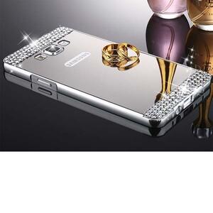 قاب آینهای نگیندار دور فلزی مناسب برای گوشی سامسونگ J5 2015