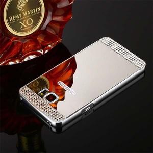 قاب آینهای نگیندار دور فلزی مناسب برای گوشی سامسونگ S6 Edge