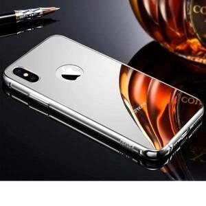قاب آینه ای دور فلزی مناسب برای گوشی آیفون X