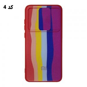 قاب سیلیکونی رنگین کمانی محافظ لنزدار کشویی شیائومی Redmi Note 8 Pro