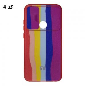 قاب سیلیکونی رنگین کمانی محافظ لنزدار کشویی شیائومی Redmi Note 8