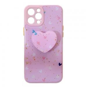 قاب رزینی با پاپ سوکت قلبی آیفون iPhone 12 Pro Max