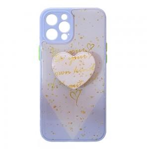 قاب رزینی با پاپ سوکت قلبی آیفون iPhone 12 Pro