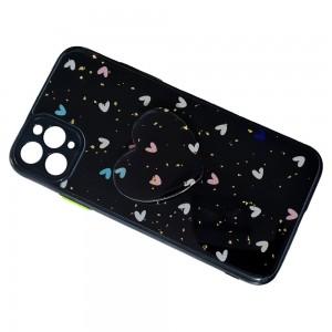 قاب رزینی با پاپ سوکت قلبی آیفون iPhone 11 Pro
