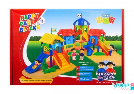اسباب بازی پارک شادی 52 قطعه تک توی