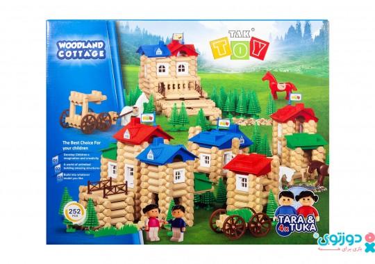 اسباب بازی ساختنی خانه جنگلی 252 قطعه تک توی