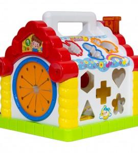 خرید اسباب بازی نوزاد خانه موزیکال جایگذاری اشکال هولی تویز 739