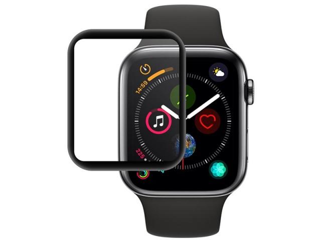 محافظ صفحه نمایش تمام چسب کوتچی مدل C2216-40 4D iWatch Glass مناسب برای ساعت هوشمند اپل واچ 40mm