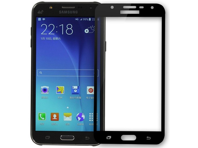 محافظ صفحه نمايش تمام چسب کوکوک مدل 4D Rounded Edges مناسب برای گوشی موبايل سامسونگ J5 Prime
