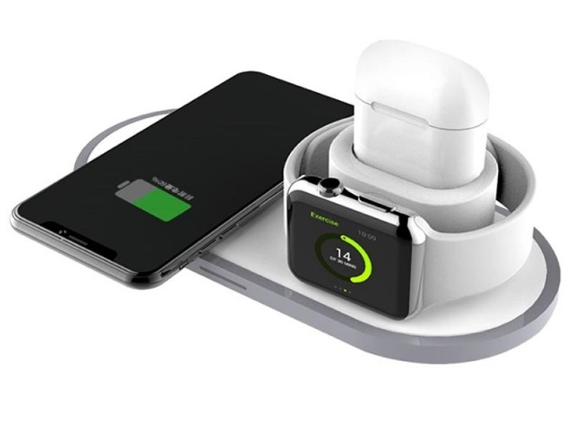 شارژر بی سیم سه کاره ارلدام مدل ET-WC9 Wireless Charge 3in1 مناسب برای شارژ گوشی، ایرپاد و اپل واچ