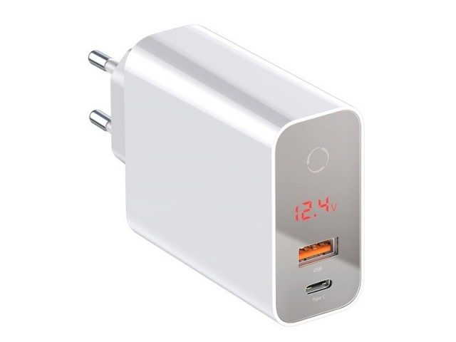شارژر دیواری فست شارژ 45 وات بیسوس مدل BS-EU907