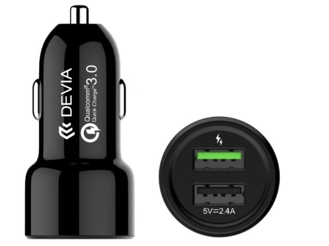 شارژر فندکی فست شارژ دیویا مدل Smart Dual USB Car Charger
