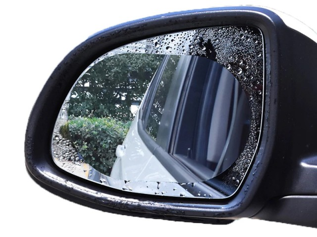 برچسب ضد آب آینه خودرو بیسوس مدل Rainproof Film For Car Rear-View Mirror (پک دوتایی)