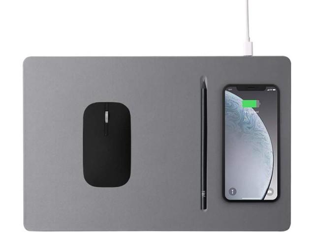 ماوس پد هوشمند با قابلیت شارژ بی سیم مدل POUT Hands 3 Pro بهمراه قلم نوری