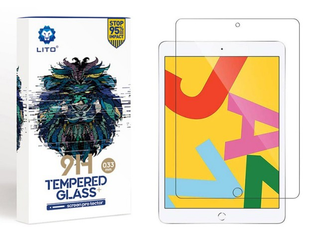 محافظ صفحه نمایش لیتو مدل 9H Tempered Glass Plus مناسب برای آیپد 10.2 اینچی