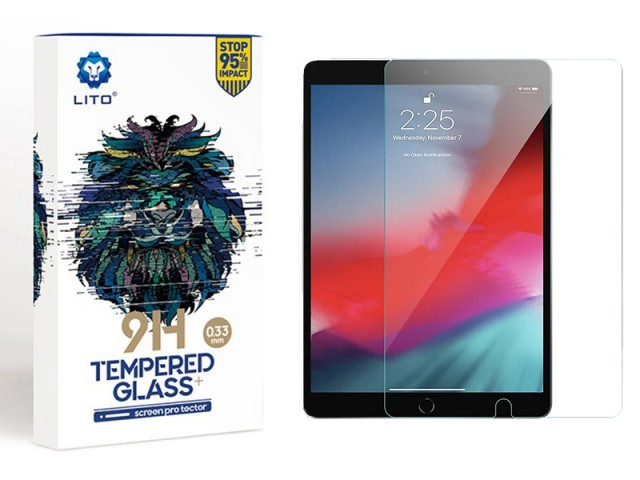 محافظ صفحه نمایش لیتو مدل 9H Tempered Glass Plus مناسب برای آیپد ایر 10.5 اینچی 2019