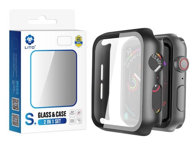 قاب محافظ و گلس لیتو مدل +S مناسب برای ساعت هوشمند اپل واچ 44mm