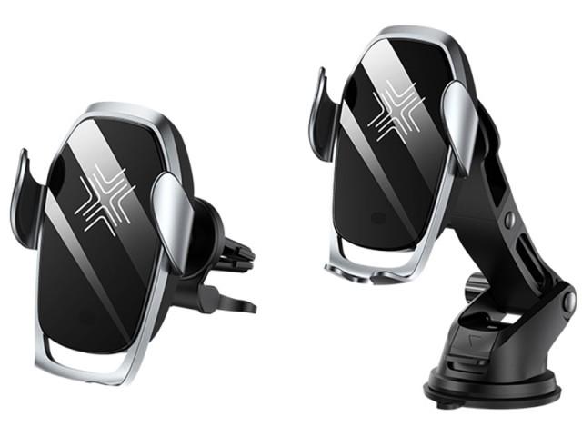 پایه نگهدارنده و شارژر وایرلس فست شارژ گوشی موبایل راک مدل W29